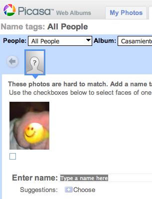 Picasa Face detection