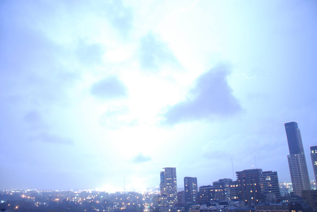 Fotografía de un rayo