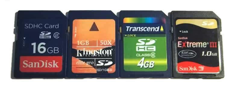 Tarjetas de memoria SD y SDHC