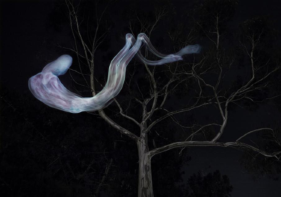 Light painting de un cadáver